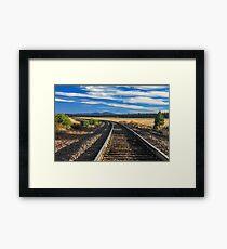 Tracks At Crater Lake Framed Print