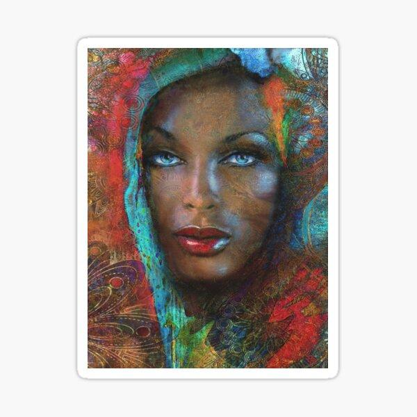 Blue Eyes Dark Oriental Sticker
