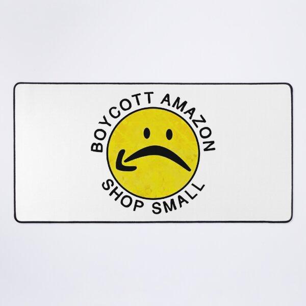 boycott amazon, shop small Desk Mat