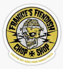 Frankie's Fiendish Chop Shop Sticker