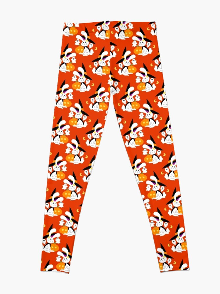 Alternate view of Halloween Witch Bunny Pattern Leggings