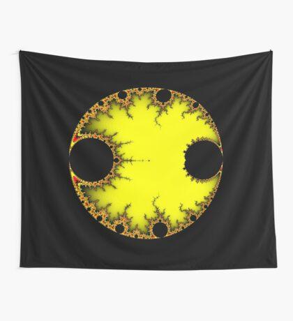 Mandelbrot Orb Yellow Wall Tapestry
