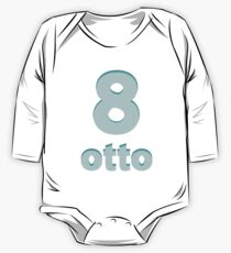 Baby learns Italian - number eight blue Kids Clothes