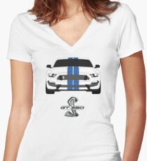 Shelby GT350 Women's Fitted V-Neck T-Shirt