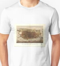 Vintage Pictorial Map of San Francisco (1878)  Unisex T-Shirt