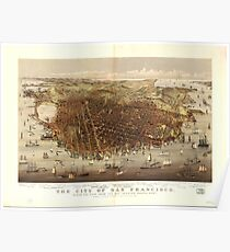 Vintage Pictorial Map of San Francisco (1878)  Poster