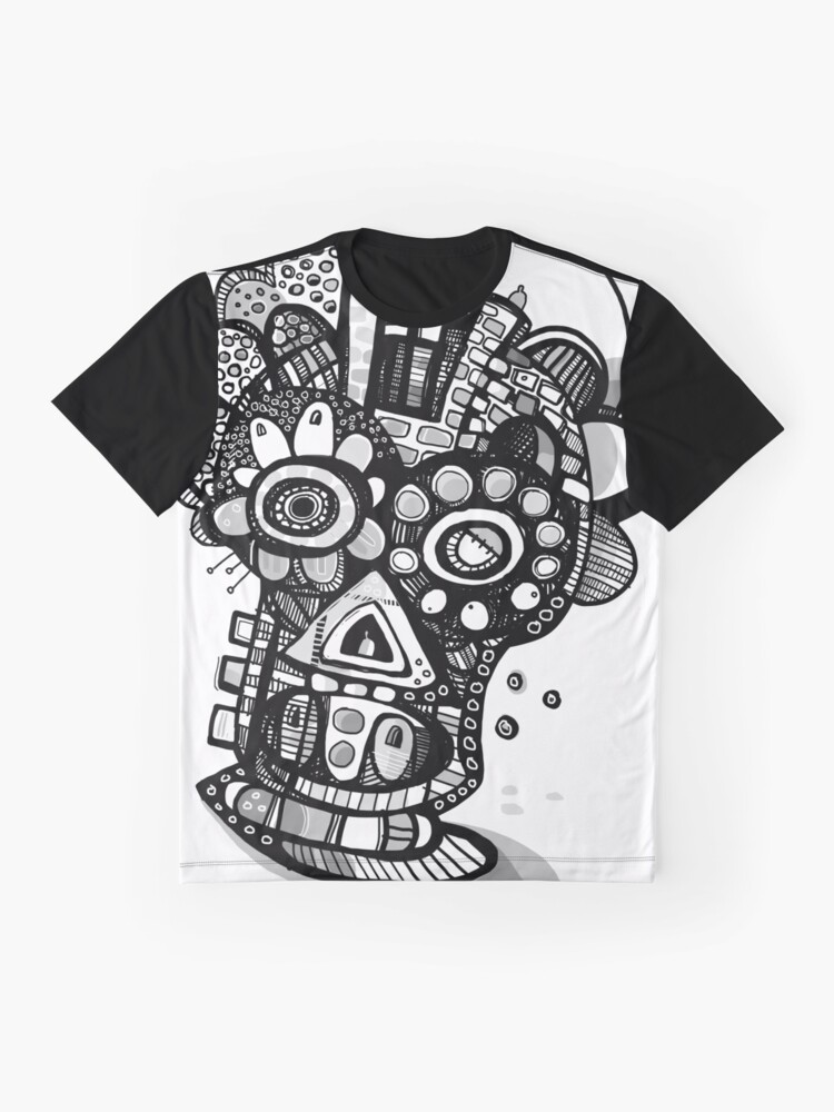 Alternate view of All Nighter - Day of The Dead Mask  Graphic T-Shirt