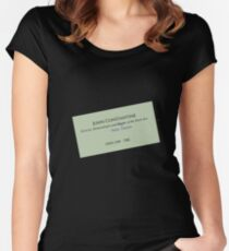 John Constantine's Business Card Women's Fitted Scoop T-Shirt