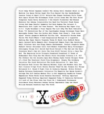 X Files - All Episodes Sticker
