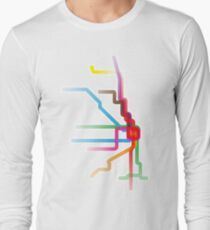Chicago CTA Rainbow Map T-Shirt