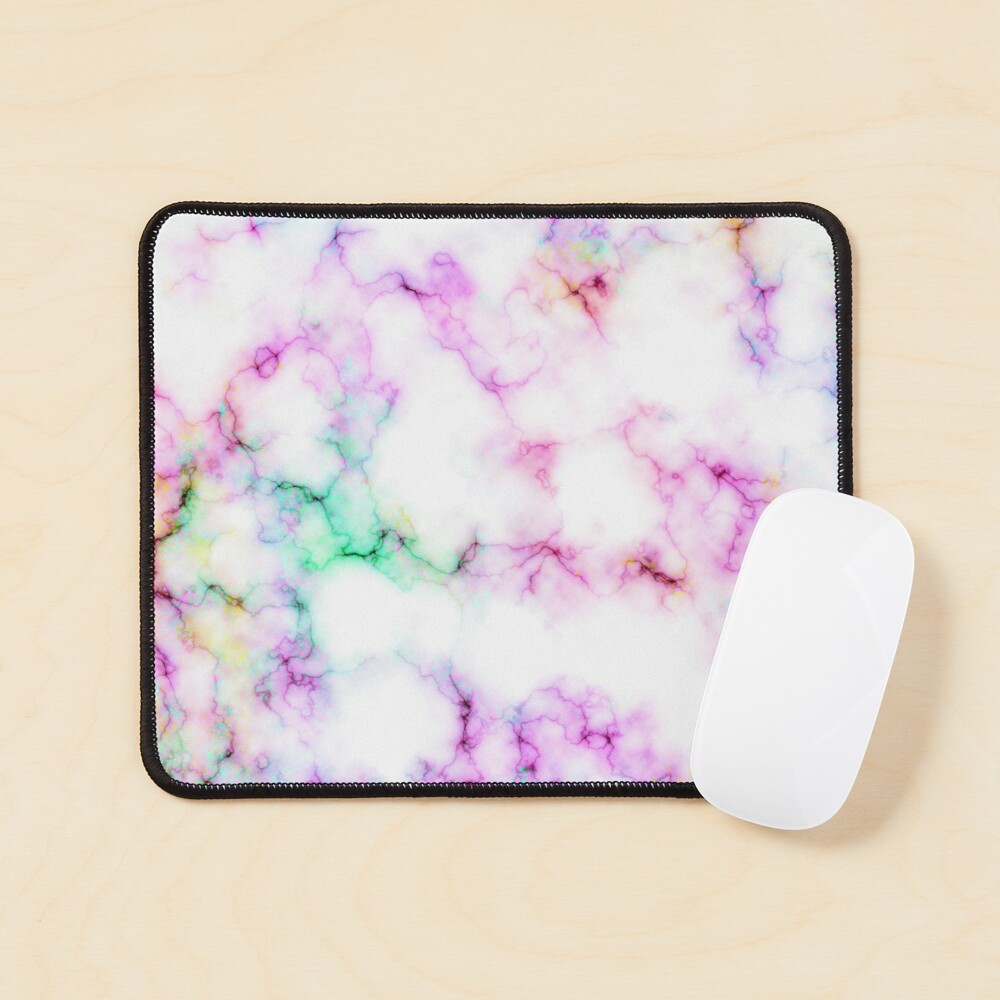 Saltwater Taffy (Faux) Colored (Faux) Marble Pattern Mouse Pad