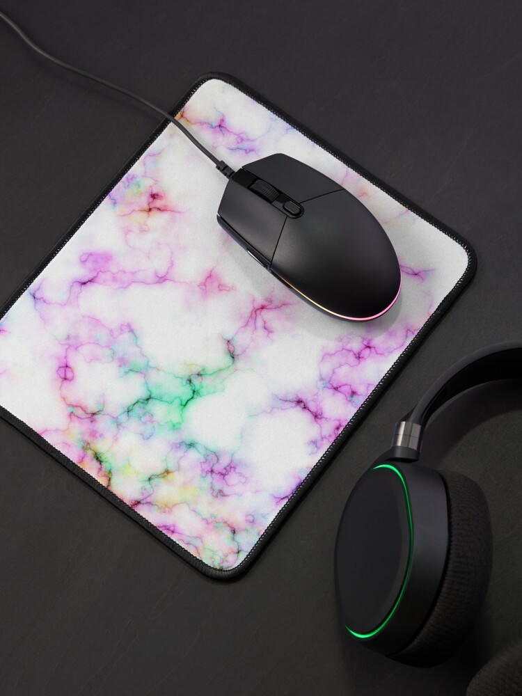 Alternate view of Saltwater Taffy (Faux) Colored (Faux) Marble Pattern Mouse Pad