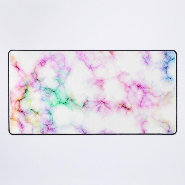 Saltwater Taffy (Faux) Colored (Faux) Marble Pattern Desk Mat