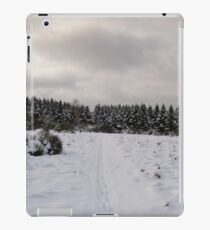 Footsteps in the snow iPad Case/Skin