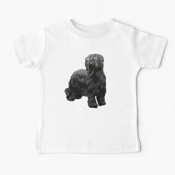 Briard Dog -Black Briard Baby T-Shirt