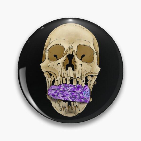 Skull Eat Crystal Pin