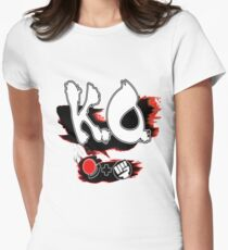 Knock Out Hadoken Womens Fitted T-Shirt