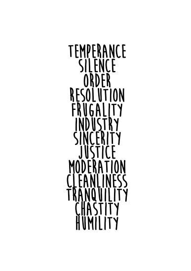 benjamin franklin 13 virtues