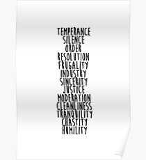 13 Virtues Poster