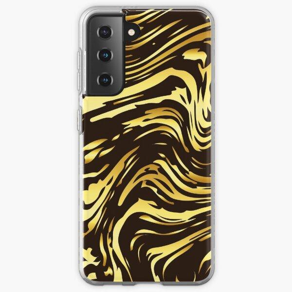 Shiny golden marble texture  Samsung Galaxy Soft Case