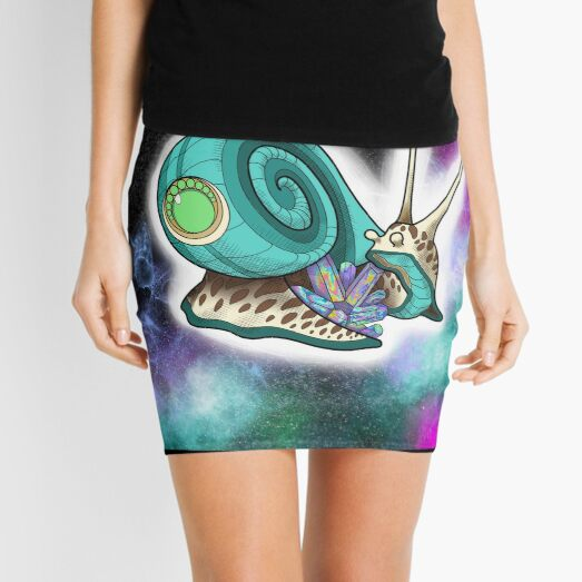 Space Snail Protects Crystal Mini Skirt