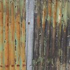 corrugated rusty metal fence paint texture by phototextures