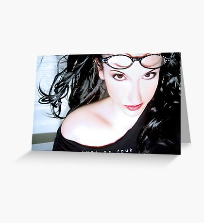 Cool as Fcuk - Self Portrait Greeting Card