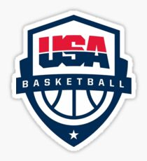 USA Bball Sticker