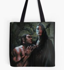 Vampire Queen and Blood Bag Tote Bag