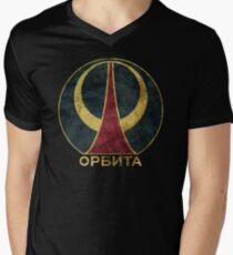 Camiseta de cuello en V Órbita CCCP