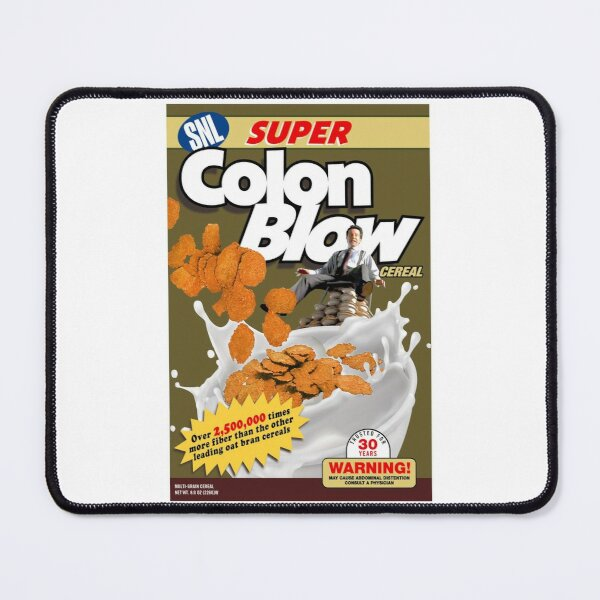 Colon Blow High Fiber Cereal Parody Breakfast Foods Box Mouse Pad