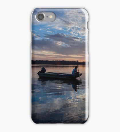 Fishing at Sundown iPhone Case/Skin