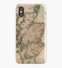 Vintage Map of Scotland (1814)  iPhone Case/Skin