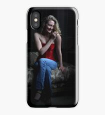 Sexy Blond Sitting iPhone Case/Skin