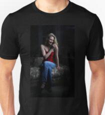 Sexy Blond Sitting T-Shirt