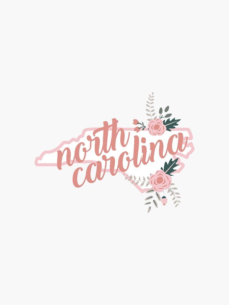 North Carolina mit Blumen von baileymincer