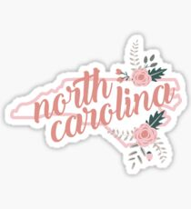 North Carolina Floral Sticker
