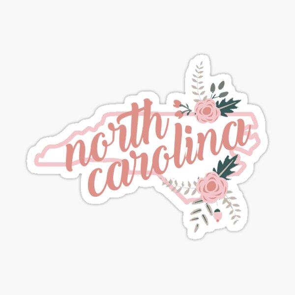 North Carolina Floral Sticker