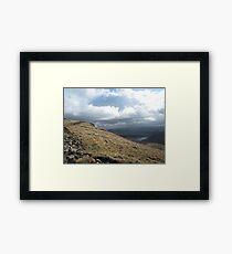 Hill walking view Framed Print