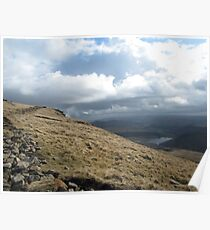 Hill walking view Poster