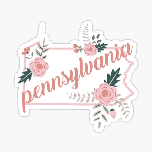 Pennsylvania Floral State Sticker