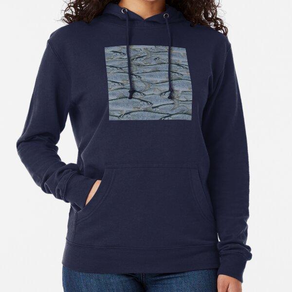 Muikku Vendace Finnish Fish navy blue pattern Lightweight Hoodie