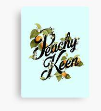 Peachy Keen : Mint Canvas Print