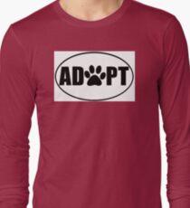 ADOPT pet sticker Long Sleeve T-Shirt