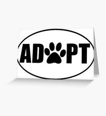 ADOPT pet sticker Greeting Card