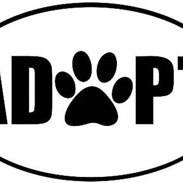 ADOPT pet sticker by thatstickerguy