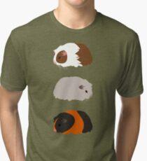 Guinea Pig Trio Tri-blend T-Shirt
