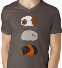 Guinea Pig Trio V-Neck T-Shirt