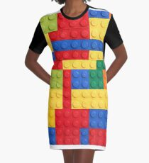 LEGO Bricks Graphic T-Shirt Dress