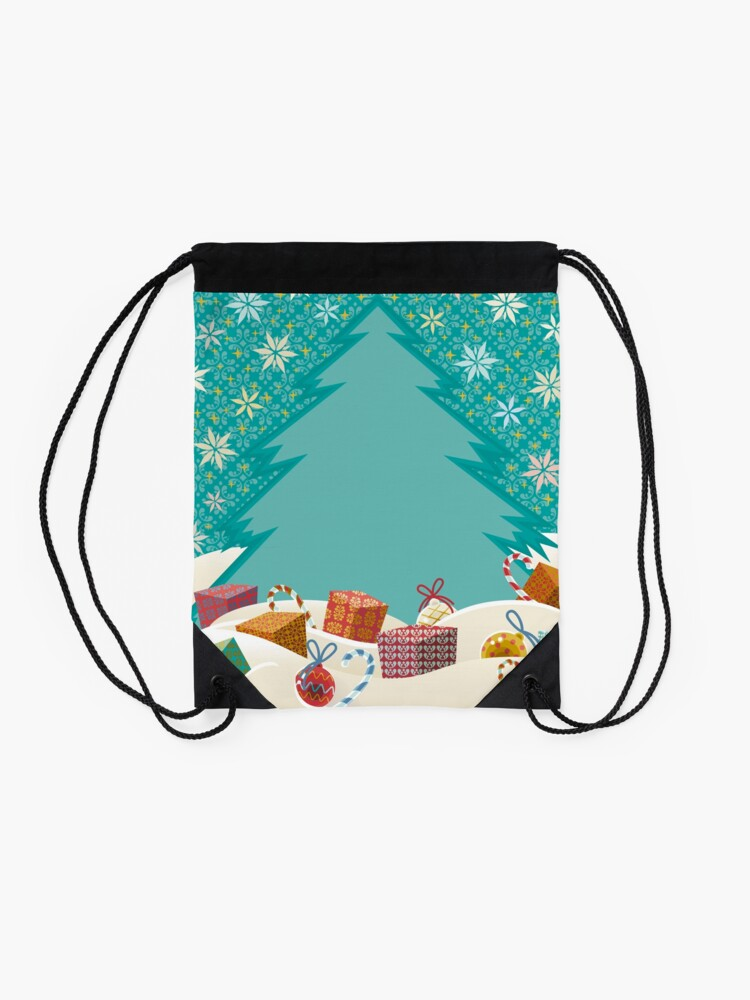 Alternate view of Christmas Eve Drawstring Bag